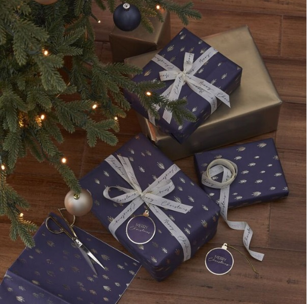 Kit paquet cadeau de Noël élégant