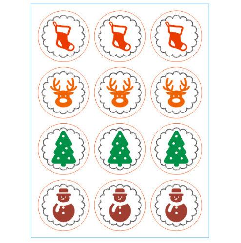 Avent - 24 stickers Noel