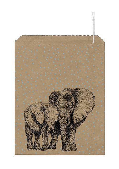 Elephant - 10 grands sachets kraft