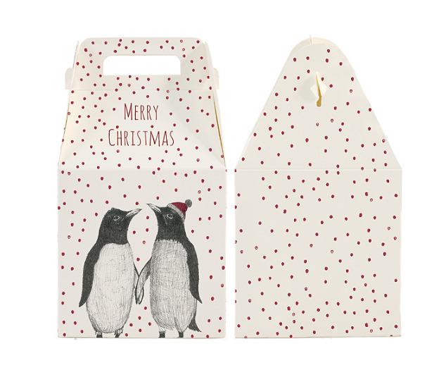 Pingouin - Jolie boite cadeau pour Noël