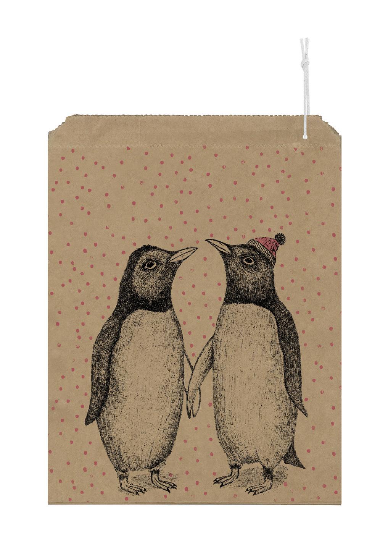 Pingouin - 10 grands sachets kraft