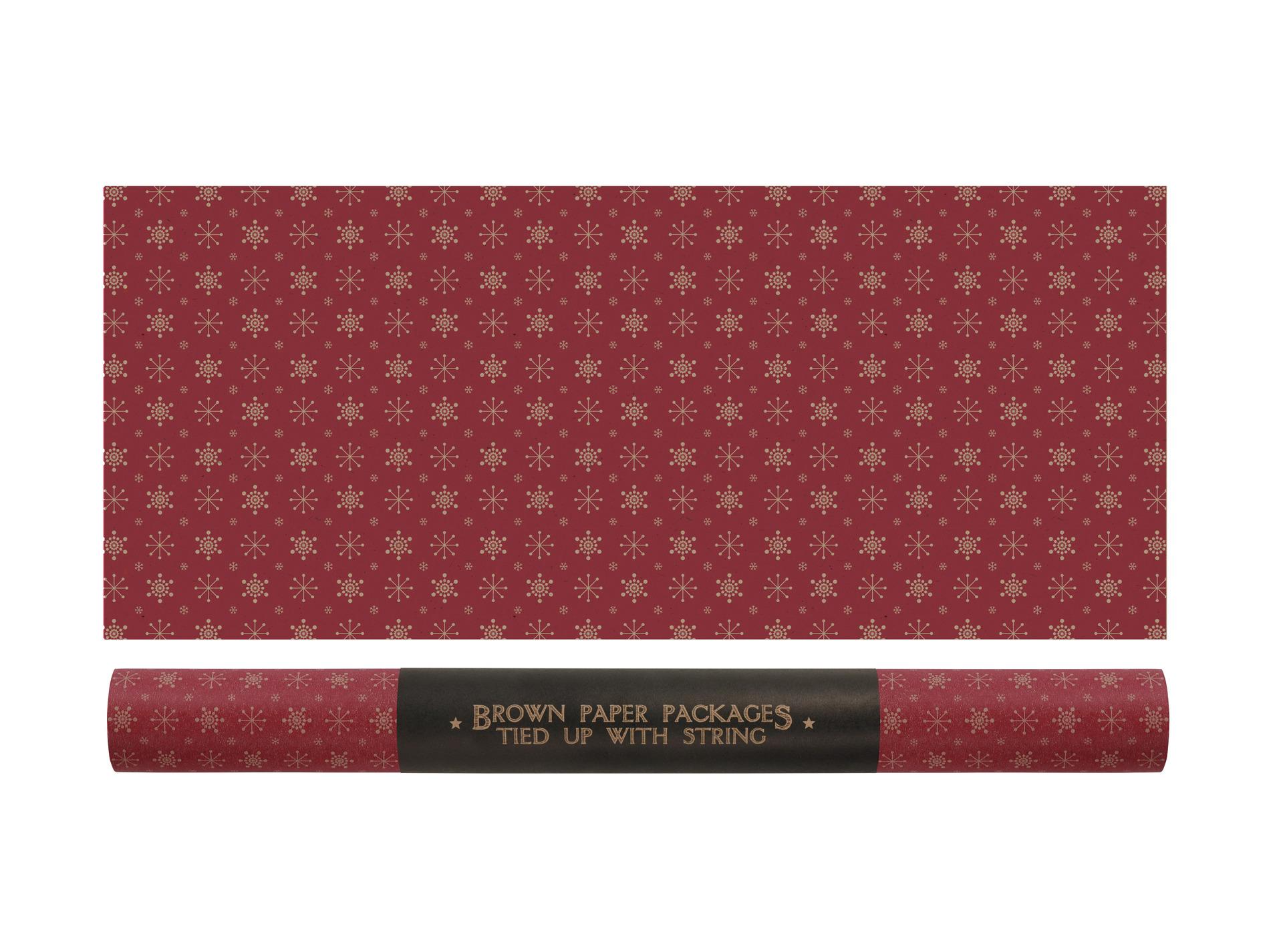 Rouleau - 3m de papier cadeau flocons