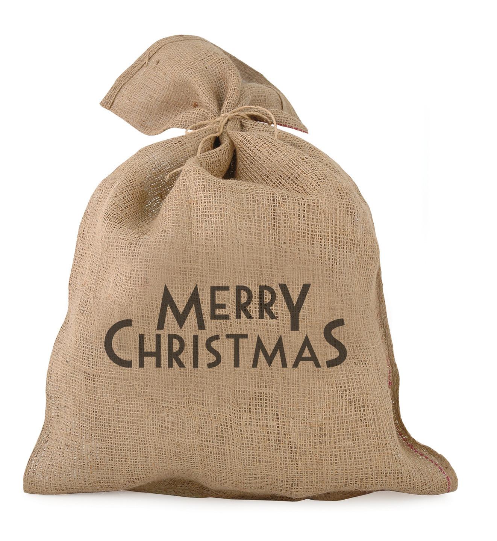 merry christmas grand sac en jute boites sachets. Black Bedroom Furniture Sets. Home Design Ideas