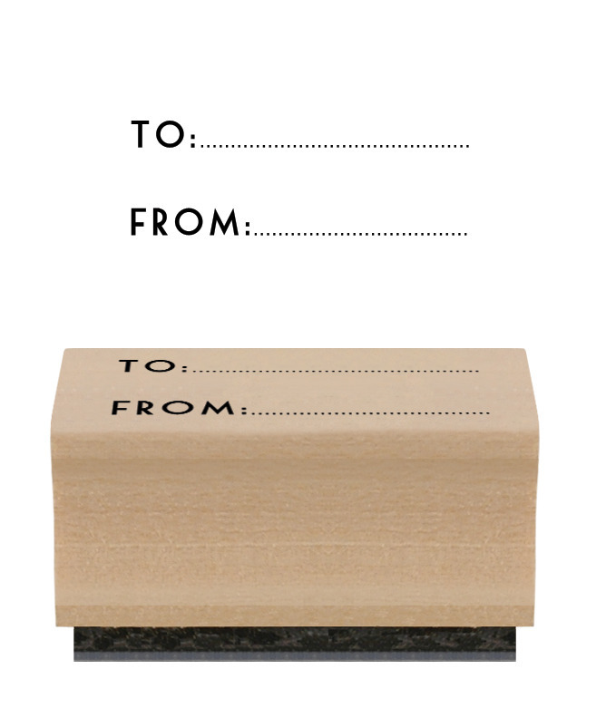 tampon etiquette cadeau
