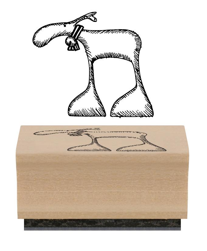 tampon avec un renne