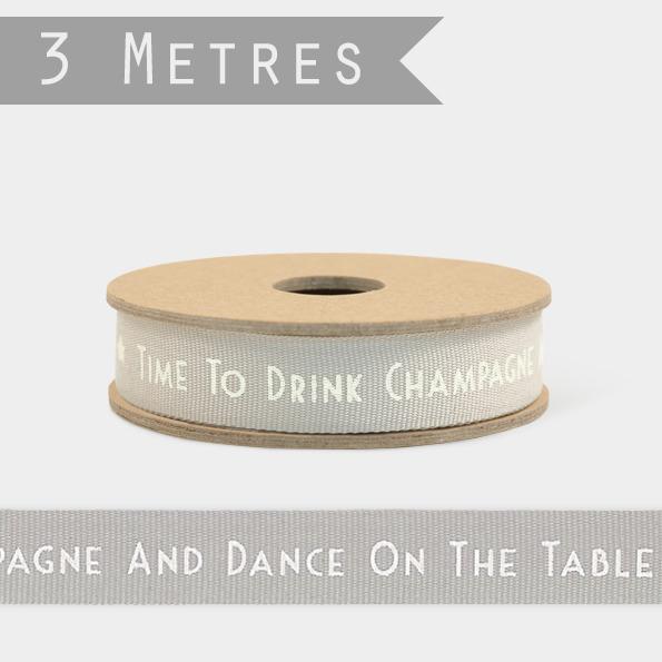 Champagne - 3m de ruban fantaisie