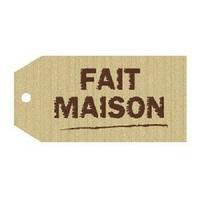 """""""Fait maison"""" - 12 étiquettes en carton"""