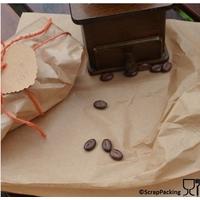 """Brown"" - 6 feuilles d'emballage alimentaire kraft"