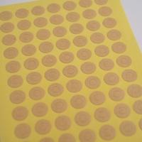 """Kraft"" - Planche de 70 petits oeillets kraft"