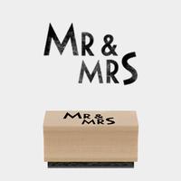 """""""Mr & Mrs"""" - Tampon mariage"""