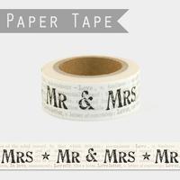 """""""Mr & Mrs"""" - Masking tape mariage"""