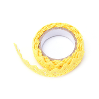 """Lace tape"" - Masking tape en dentelle jaune"
