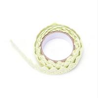 """""""Lace tape"""" - Masking tape en dentelle vert clair"""