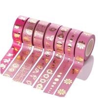"""""""Rose"""" - Masking tape dorée 10m"""