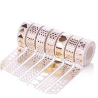 """Blanc"" - Masking tape dorée 10m"