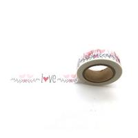 """""""Love"""" - Masking tape avec des oiseaux"""