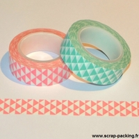 """Mini triangles"" - Masking tape 10m"