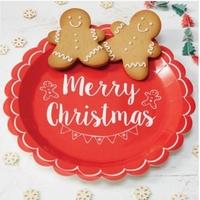 """""""Noël"""" - 8 assiettes en papier"""