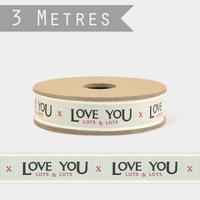 """""""Love you"""" - 3m de ruban fantaisie"""