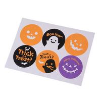 """Halloween"" - 6 stickers ronds"