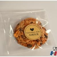 """""""Cookie"""" - 100 sachets carrés en plastique"""