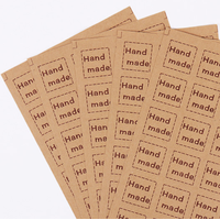 """Handmade"" - 120 autocollants carrés"