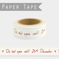 """Do not open"" - Masking tape Noel"