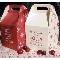 """Noël"" - Boite cadeau rouge ou blanc"