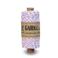"""""""Purple"""" - Rouleau de baker twine violet et blanc"""