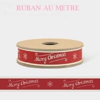 """Merry Christmas"" - 1m de ruban grosgrain"