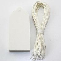"""""""Blanc"""" - 50 étiquettes tag festonnées"""