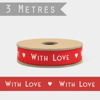 """With love"" - 3m de joli ruban"