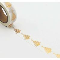 """Sapin"" - Masking tape dorée"
