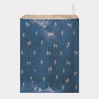 """Noël"" - 10 grandes pochettes papier bleu"