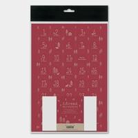 Kit pour calendrier de l'Avent en papier rouge