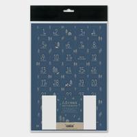 Kit pour calendrier de l'Avent en papier bleu