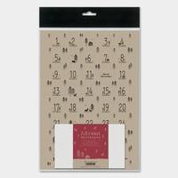Kit pour calendrier de l'Avent en papier kraft