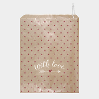 """With love"" - 10 grands sachets kraft"
