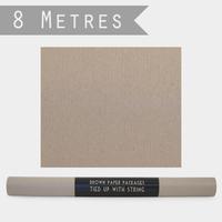 """""""Rouleau"""" - 8m de papier cadeau kraft marron"""