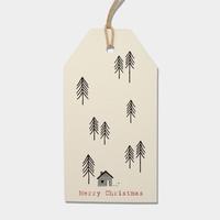 """""""Noël"""" - 6 grandes étiquettes épaisses blanches"""
