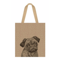 """Shopping bag"" - Grand sac en jute chien"