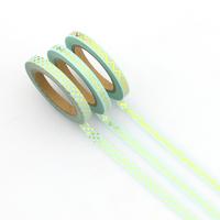 """Slim tape"" - 3 rouleaux de masking tape or et turquoise"