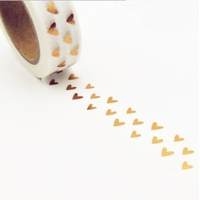 """Dorée"" - Masking tape avec des coeurs"