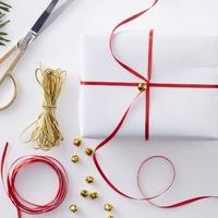 Kit pour emballer un paquet cadeau de Noël