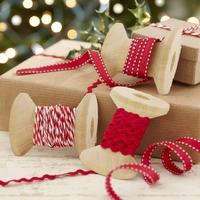 """""""Noël"""" - Assortiment de 3 rubans rouges (8m)"""