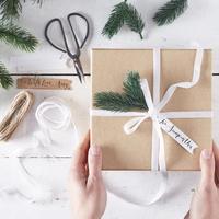 Kit pour emballer des paquets cadeaux nature