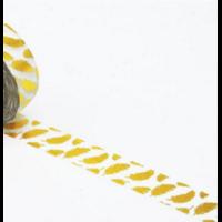 """Plumes"" - Masking tape dorée"