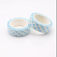 """Graphique"" - Masking tape triangles bleus"