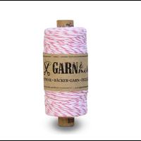 """""""Pink"""" - Rouleau de baker twine rose et blanc"""