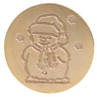 """""""Noël"""" - Sceau bonhomme de neige"""